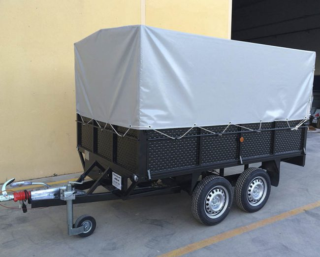 Remolque 2 ejes con lona y arquillos 2.600 x 1.600 x 500 -mma 750 kg-5