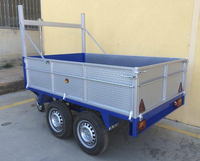 Remolque 2 ejes ruedas por debajo - mma 750 kg