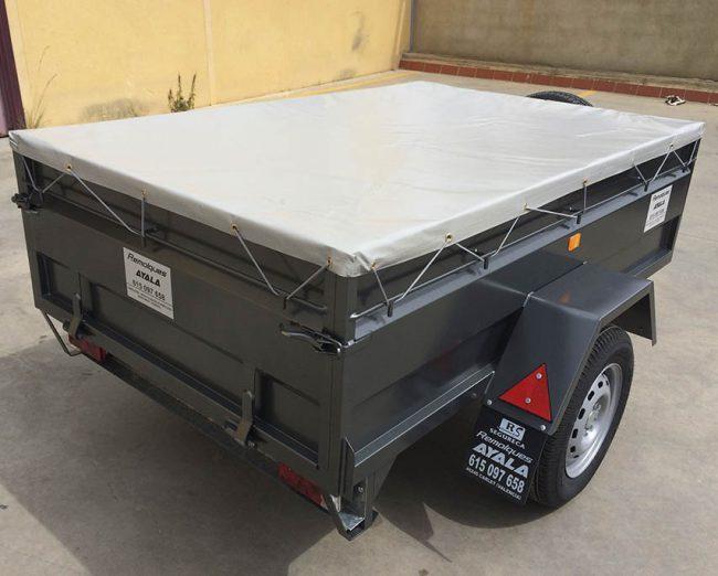 Remolque con lona plana Carro 1 eje MMA 750 KG - REMOLQUES AYALA - 1
