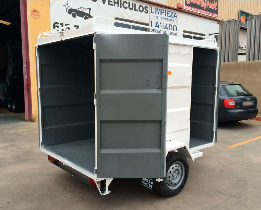 Remolque-furgon-cerrado-CHAPA-PLEGADA-+-techo-elevable-1-eje-con-freno---REMOLQUES-AYALA--4