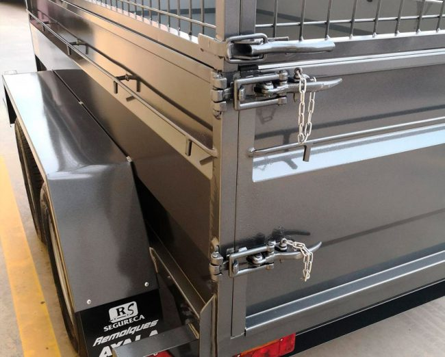 remolque caja abierta 2 ejes reforzado